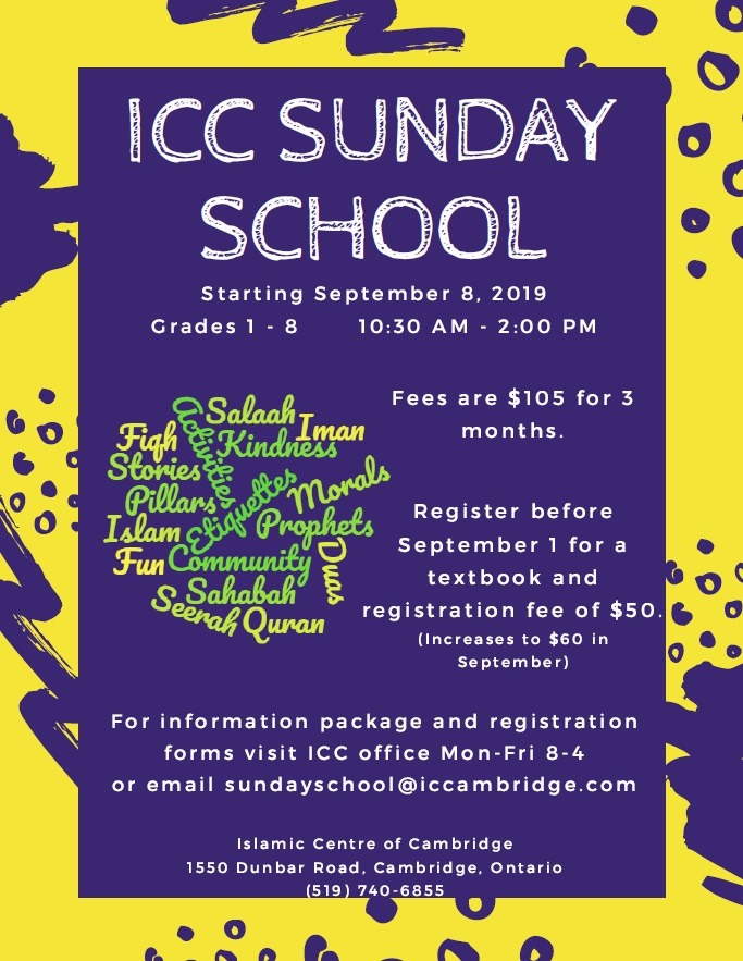 Sunday School Poster 2019-20